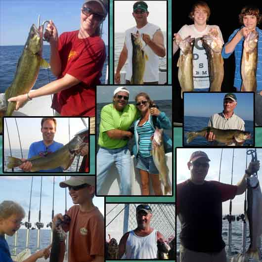 Pictures of fish caught aboard Mary C II Lake Erie Fishing Charters